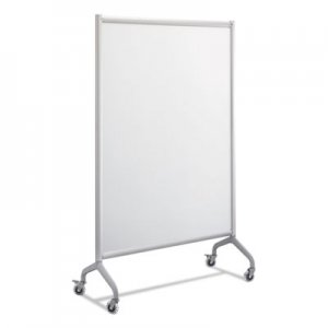 Safco Rumba Full Panel Whiteboard Collaboration Screen, 42 x 66, White/Gray SAF2017WBS 2017WBS