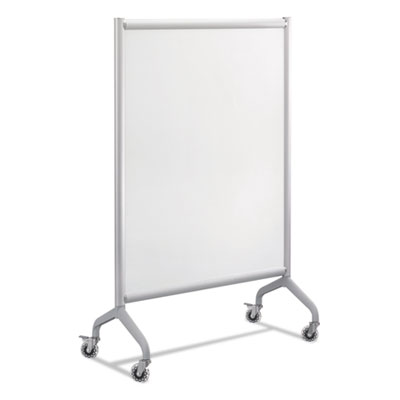 Safco Rumba Full Panel Whiteboard Collaboration Screen, 42 x 54, White/Gray SAF2015WBS 2015WBS