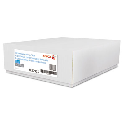 Xerox Revolution Performance Never Tear Paper, 10mil, 8.5x11, 94 Bright, White, 600/CT XER3R12925 3R12925
