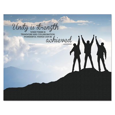 "Advantus ""Unity"" Silhouette Canvas Motivational Print, 22 x 28 AVT78094 78094"
