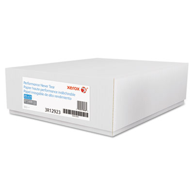 Xerox Revolution Performance Never Tear Paper, 8 mil, 8.5x11, 94 Bright, White, 600/CT XER3R12923 3R12923