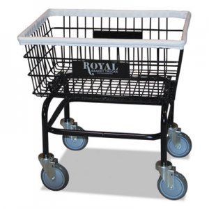 Royal Basket Trucks Small Wire Laundry Cart, 21 x 26 x 26 1/2, 200 lbs. Capacity, Black RBTR27BKXWA5UN L27