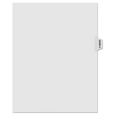 "Kleer-Fax 80000 Series Legal Index Dividers, Side Tab, Printed ""Exhibit X"", 25/Pack KLF81024 81024"