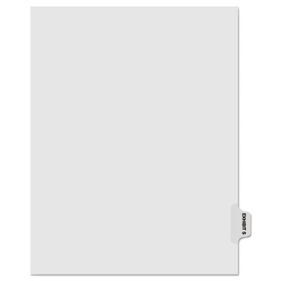"Kleer-Fax 80000 Series Legal Index Dividers, Side Tab, Printed ""Exhibit S"", 25/Pack KLF81019 81019"
