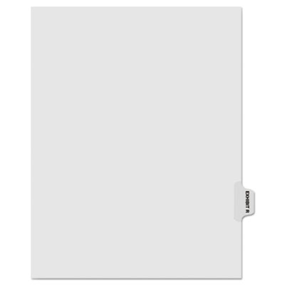 "Kleer-Fax 80000 Series Legal Index Dividers, Side Tab, Printed ""Exhibit R"", 25/Pack KLF81018 81018"