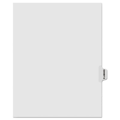 "Kleer-Fax 80000 Series Legal Index Dividers, Side Tab, Printed ""Exhibit Q"", 25/Pack KLF81017 81017"