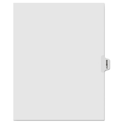"Kleer-Fax 80000 Series Legal Index Dividers, Side Tab, Printed ""Exhibit P"", 25/Pack KLF81016 81016"