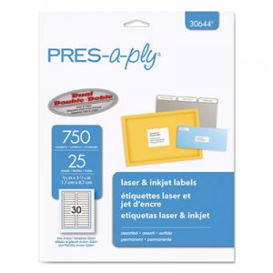 pres a ply templates - avery matte clear easy peel address labels inkjet 1 x 4