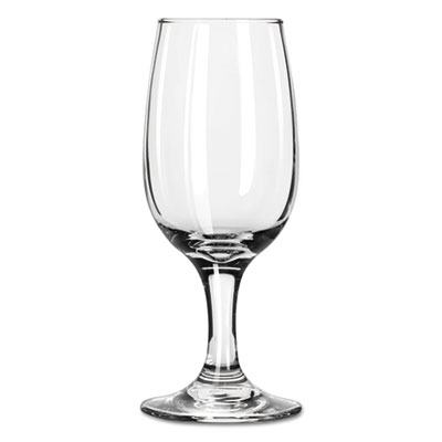 "Libbey Embassy Flutes/Coupes & Wine Glasses, Wine Glass, 6.5oz, 6 1/4"" Tall LIB3766 31009231676"