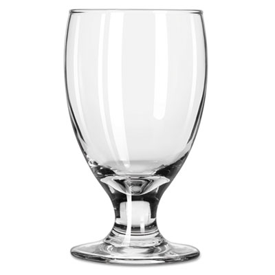 "Libbey Embassy Footed Drink Glasses, Banquet Goblet, 10.5oz, 5 1/4"" Tall LIB3712 10031009369994"