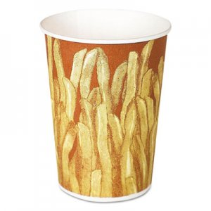 Dart Paper French Fry Cups, 12 oz,Yellow/Brown Fry Design, 1000/Crtn SCCGRS12 GRS12-00021