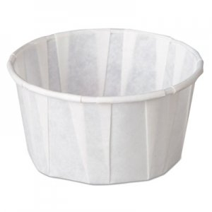Genpak Squat Paper Portion Cup, Pleated, 4 oz, White, 5000/Carton GNPF400 F400