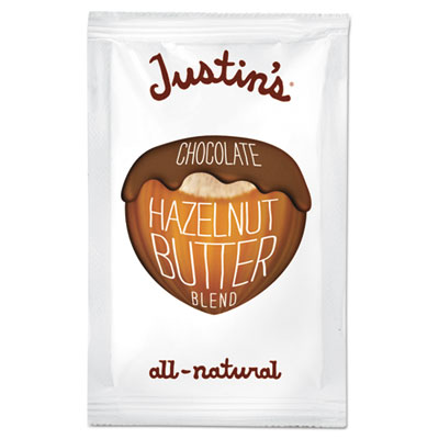 Justin's Chocolate Almond/Hazelnut Butter, 1.15 oz Squeeze Pack, 10/Box JNB00058 00058