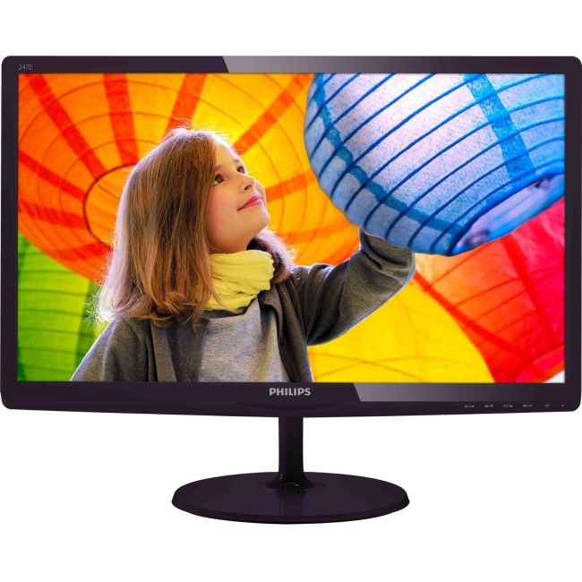 Philips E-line Widescreen LCD Monitor 247E6QDSD