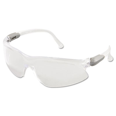 Jackson Safety V20 Visio Safety Glasses, Silver Frame, Clear Lens KCC14470 14470