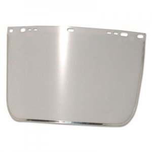 "Anchor Brand Face Shield Visor, 15 1/2"" x 9"", Clear, Bound, Plastic/Aluminum ANR3440BCL"
