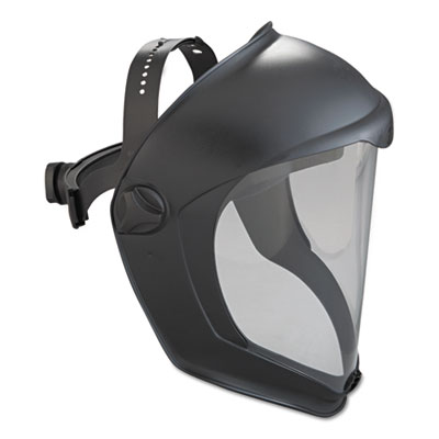 Honeywell Uvex Bionic Face Shield, Matte Black Frame, Clear Lens UVXS8510 763-S8510