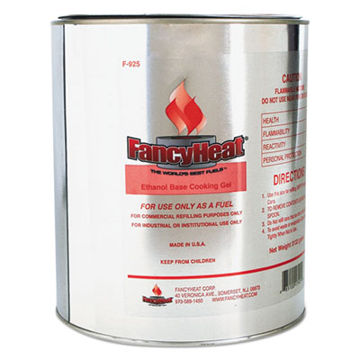 FancyHeat Ethanol Gel Chafing Fuel Refill Can, 1 Gal, Commercial Refilling Purposes Only FHCF925 F925