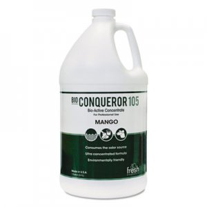 Fresh Products Bio Conqueror 105 Enzymatic Concentrate, Mango, 1gal, Bottle, 4/Carton FRS1BWBMG 1-BWB-MG