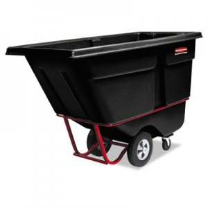 Rubbermaid Commercial Rotomolded Tilt Truck, Rectangular, Plastic, 2100-lb Cap., Black RCP1316BLA FG131600BLA