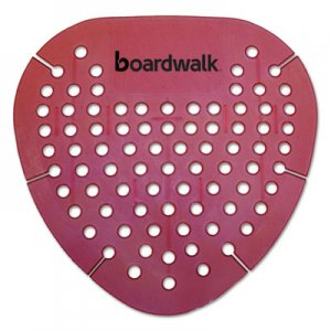 Boardwalk Gem Urinal Screen, Lasts 30 Days, Red, Spiced Apple Fragrance, 12/Box BWKGEMSAP