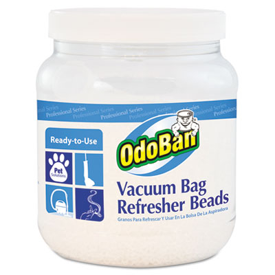 OdoBan Vacuum Bag Refresher Beads, Fresh Scent, 24 oz Jar, 12/Carton ODO745A6224Z12 CCC 745A62-24Z12