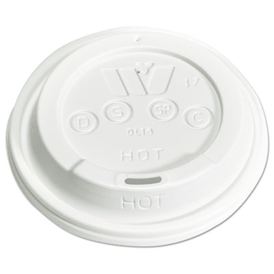 WinCup Plastic Lids for 12,16,20,24 oz Foam Cups, Sip-Thru, ID, White, 1000/Carton WCPDL18 DL18