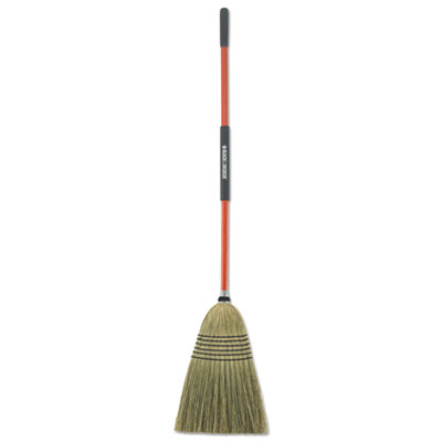"BLACK+DECKER Large Corn Broom, Corn Bristles, 16 1/2"" Bristles, 55 1/2"", Orange/Black BUT261020 261020"