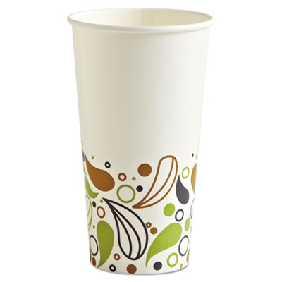 Boardwalk Deerfield Printed Paper Cold Cups, 20 oz, 50 Cups/Pack, 20 Packs/Carton BWKDEER20CCUP