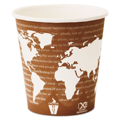 Eco-Products World Art Renewable & Compostable Wrapped Hot Cups 10oz., 1000/CT ECOEPBHC10WAW ECP EP-BHC10-WAW
