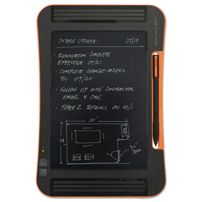 "Boogie Board Sync LCD eWriter, 9.7"" Screen, Black/Orange IMVST1020001 ST1020001"