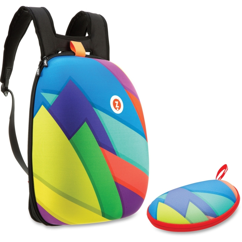 ZIPIT Colorful Triangles Shell Backpack Set ZSHLCTSPR ZITZSHLCTSPR