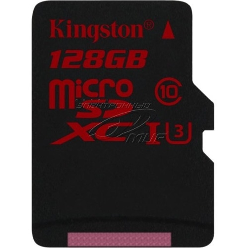 Kingston 128GB microSDXC UHS-I speed class 3 Single Pack w/o Adapter SDCA3/128GBSP
