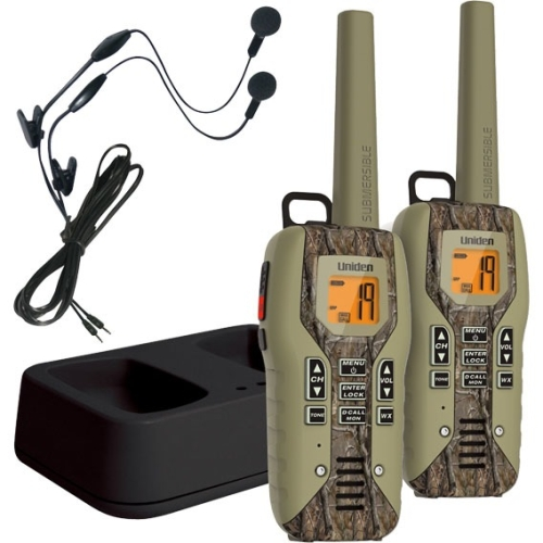 Uniden Camo Submersible Two Way Radio with Charger and Headset GMR5088-2CKHS