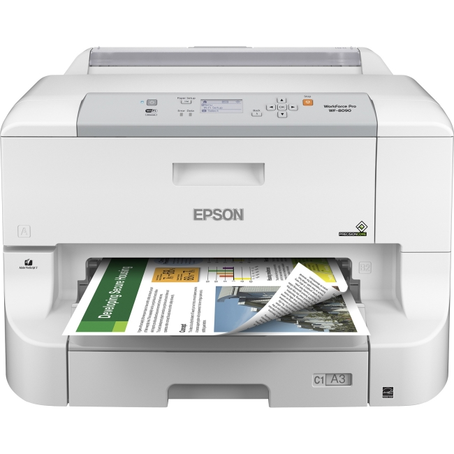 Epson WorkForce Pro Network Color Printer w/ PCL/Postscript C11CD43201 WF-8090