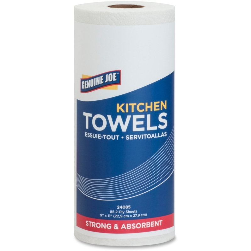 Genuine Joe 85-sheet Perforated Roll Towels 24085 GJO24085