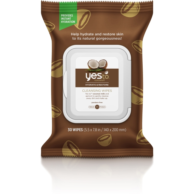 Yes To Coconut Facial Cleansing Wipes 30 ct 5437101