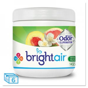Bright Air Super Odor Eliminator, White Peach and Citrus, 14oz, 6/Carton BRI900133CT BRI 900133