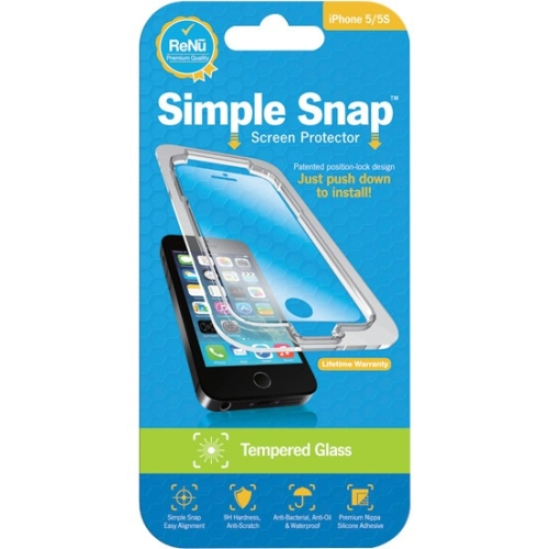ReVamp Simple Snap Screen Protector (iPhone 5/5S) (Tempered Glass) SS0003