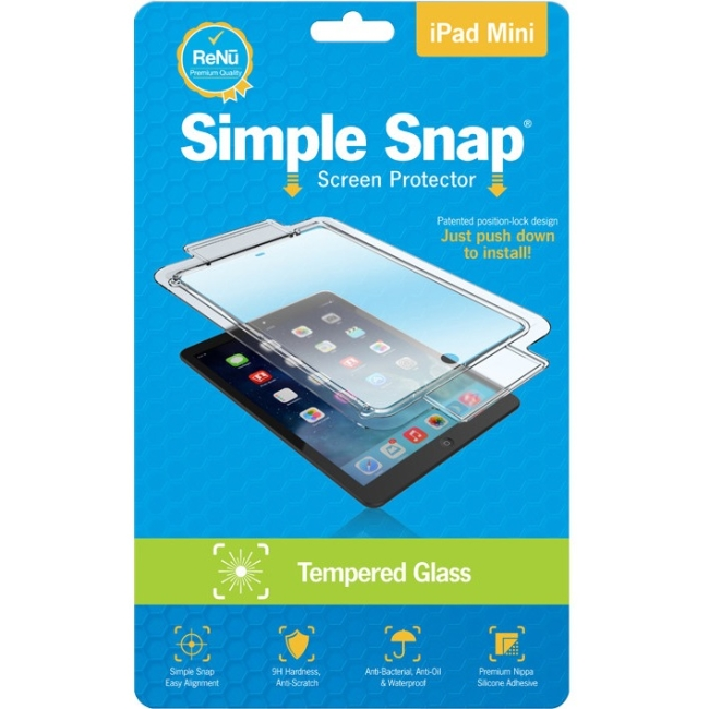 ReVamp Simple Snap Screen Protector (iPad Mini) (Tempered Glass) SS0010