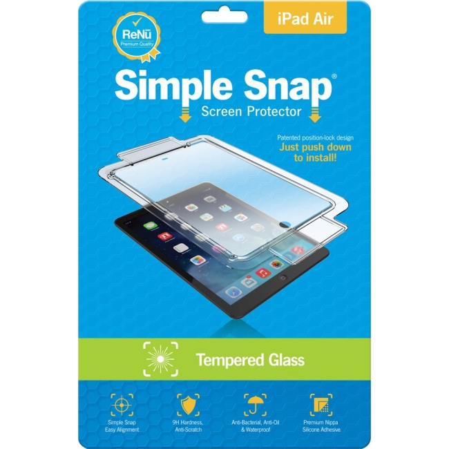 ReVamp Simple Snap Screen Protector (iPad Air) (Tempered Glass) SS0012