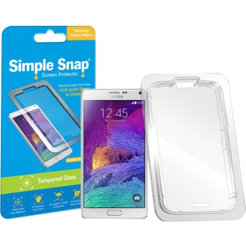 ReVamp Simple Snap Screen Protector (Samsung Galaxy Note 4) (Tempered Glass) SS0021