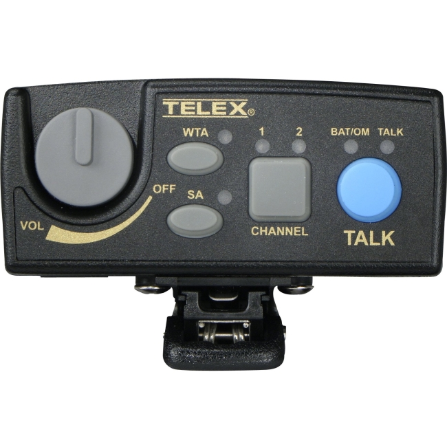 Telex Narrow Band UHF Two-Channel Wireless Synthesized Portable Beltpack PRD000084B2 TR-80N