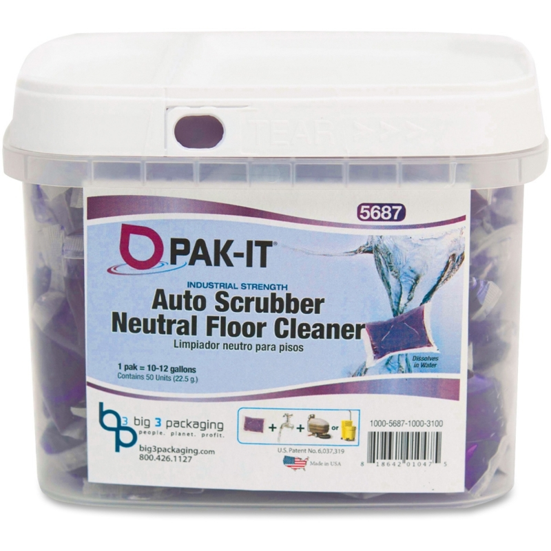 Big 3 Packaging PAK-IT Auto Scrub Neutral Floor Cleaner 5687504