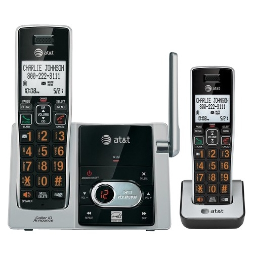 AT&T 2 Handset Cordless Answering System with Caller ID/Call Waiting CL82213