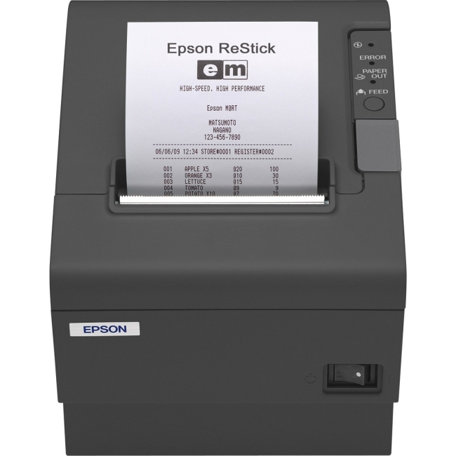 Epson Energy Star Restick Label Printer C31CA85A8830 TM-T88IV