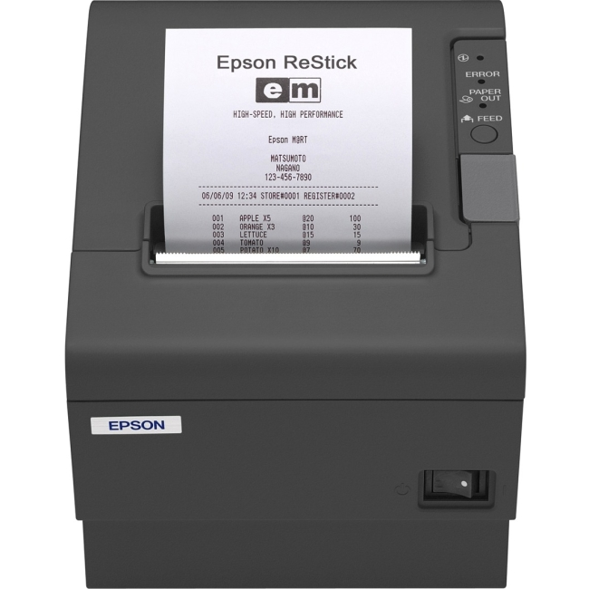 Epson Energy Star Restick Label Printer C31CA85A8980 TM-T88IV