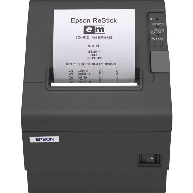 Epson Energy Star Restick Label Printer C31CA85A8780 TM-T88IV