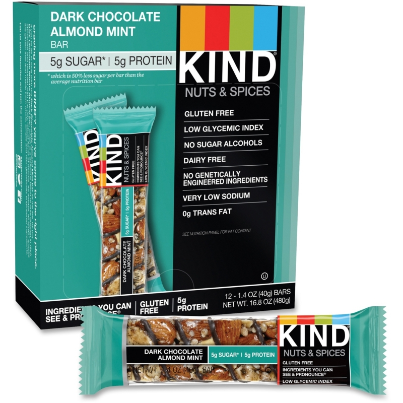 KIND Dark Chocolate Almond Mint Snack Bar 19988 KND19988