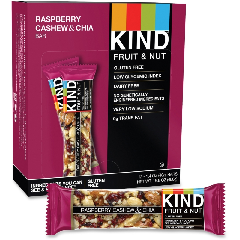 KIND Raspberry Cashew & Chia Snack Bar 19989 KND19989